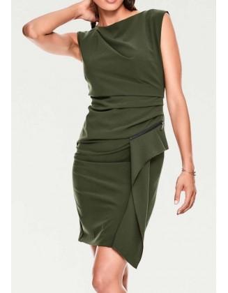 """Žalia elegantiška suknelė """"Wrap"""""""