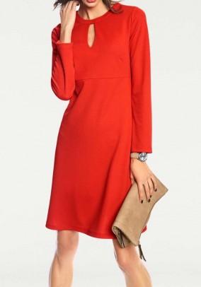 Raudona elegantiška suknelė. Liko 38 dydis