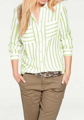 Žalsvi dryžuoti marškiniai