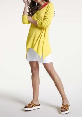 Platus geltonas megztinis