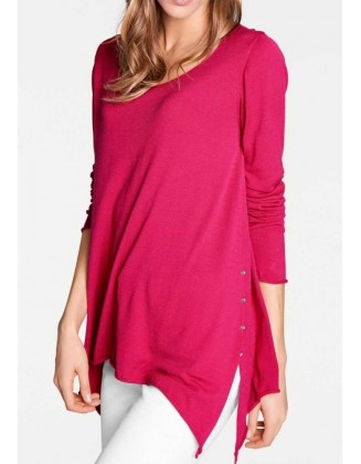 Platus rožinis megztinis