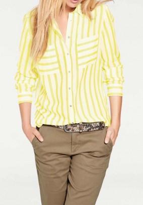 Striped blouse, ecru-yellow