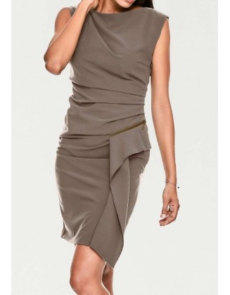"""Ruda elegantiška suknelė """"Wrap"""""""