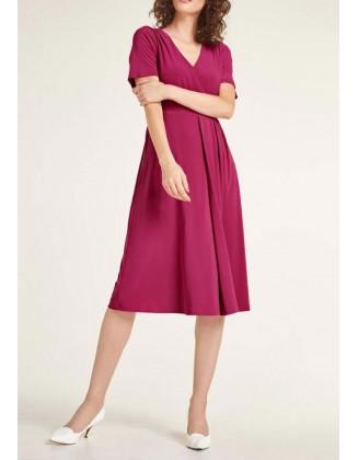"""Uogų spalvos suknelė """"Wrap"""""""