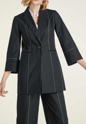 Long blazer, black