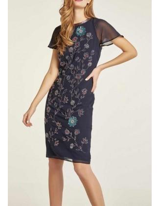 Puošni siuvinėta suknelė
