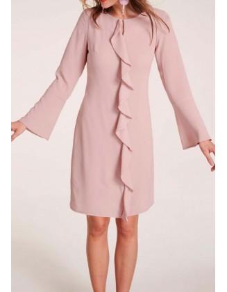 """Elegantiška rausva suknelė """"Flounce"""""""
