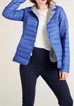 Reversible down jacket, azure blue