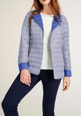 Reversible down jacket, azure blue