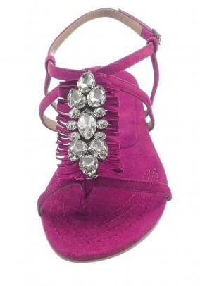 Rožinės odinės basutės