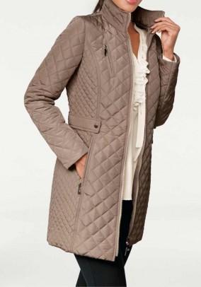 Quilt jacket, dark taupe