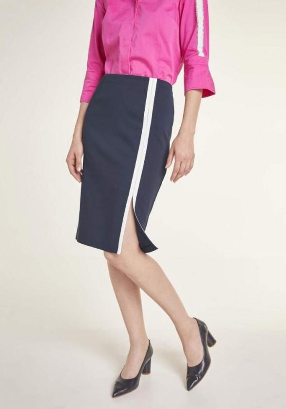 Mėlynas pieštuko stiliaus sijonas