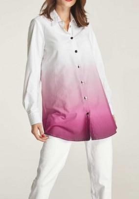 Long blouse, white-pink