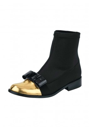 Stretch bootie, black-gold coloured