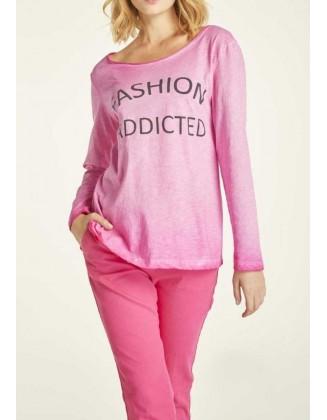 Rožiniai laisvalaikio marškinėliai