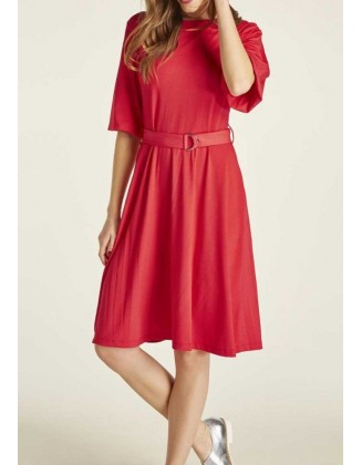"""Raudona suknelė """"Klara"""""""