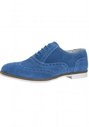 Mėlyni verstos odos batai