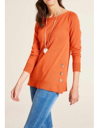 """Oranžinis megztinis """"Betti"""""""