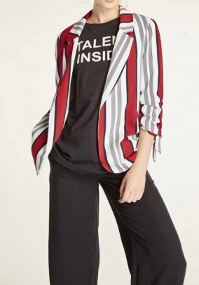 Blazer, black-white-red