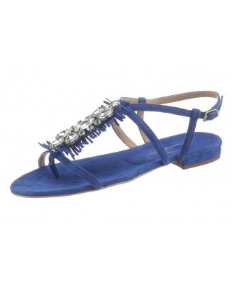 Mėlynos odinės basutės
