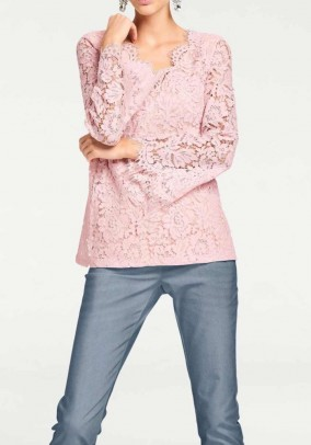 Lace tunic, rose