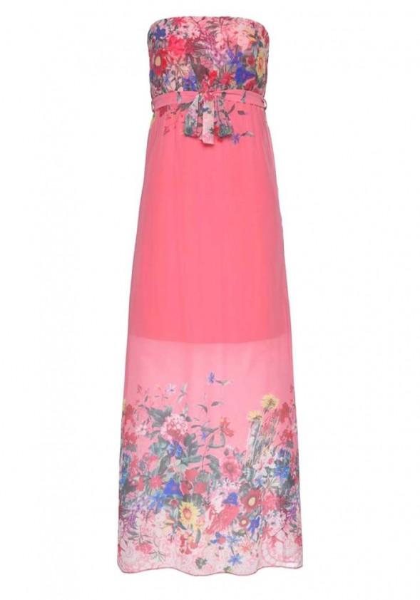 Maxi dress, lobster-multicolour