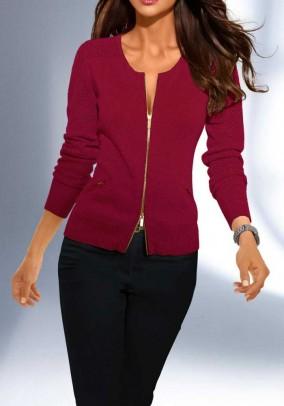 Raudonas megztinis su šilku