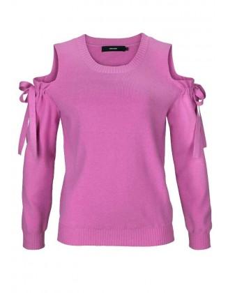 "Rožinis Vero Moda megztinis ""Cut"""