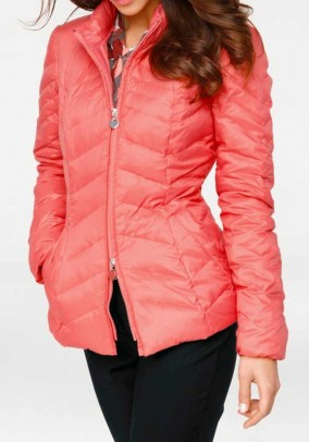 Down jacket, coral