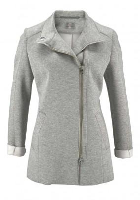 Double face jacket, grey blend