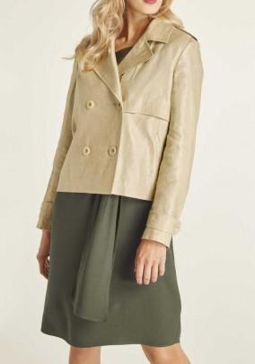 Linen short jacket, sand-gold