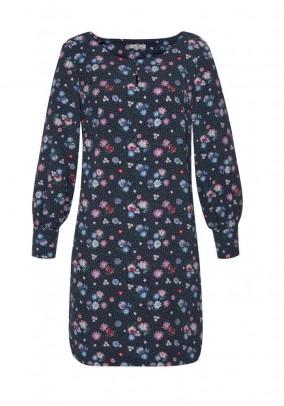 Print dress, navy-multicolour