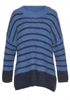 Oversize sweater, navy-blue