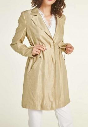 Linen short coat, sand-gold