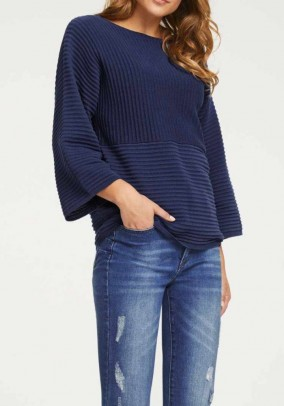 Oversize sweater, navy