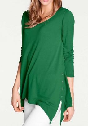 Fine knit sweater, green