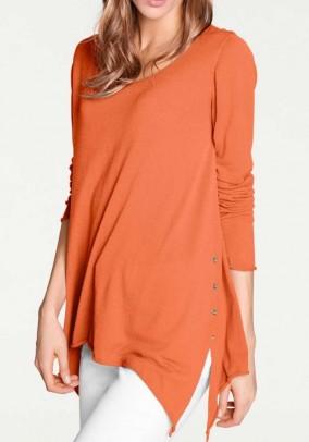 Fine knit sweater, orange