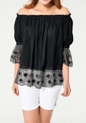 Carmen blouse, black