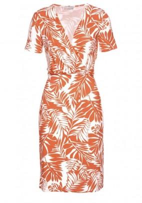Vasarinė oranžinė suknelė