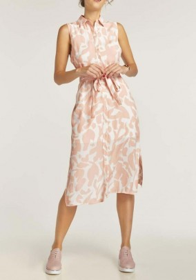 Print dress, nude-offwhite