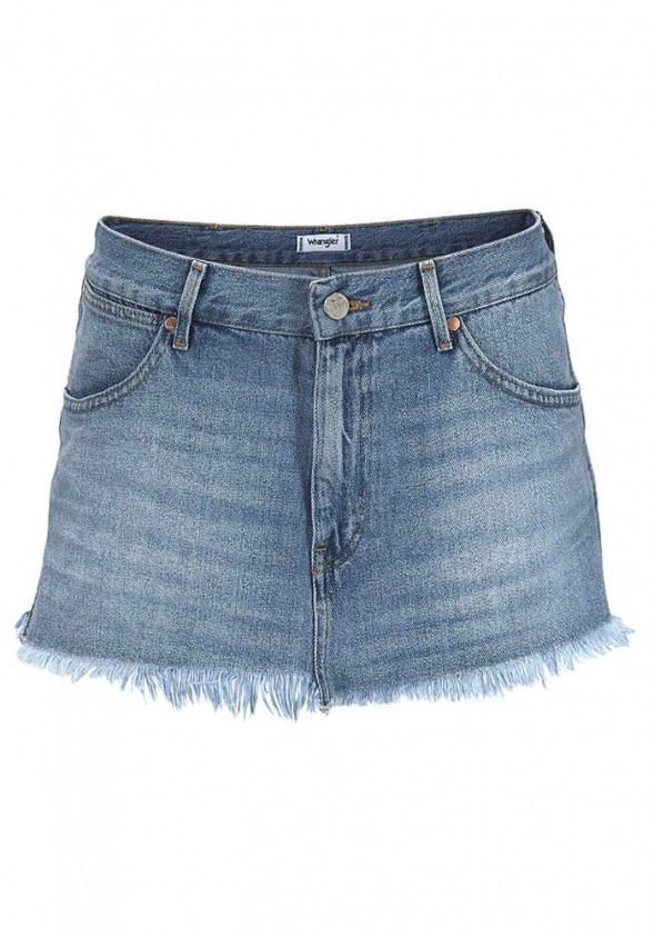 Denim mini skirt, blue used