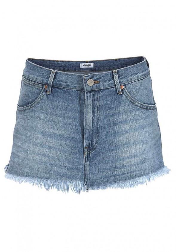 WRANGLER trumpas džinsinis sijonas