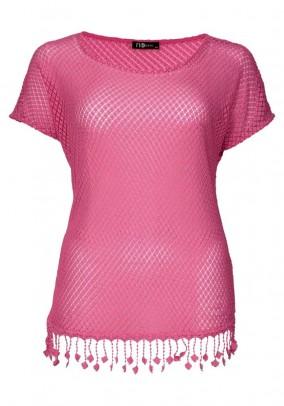 Plus size shirt, pink