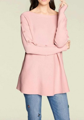 Long sweater, pink