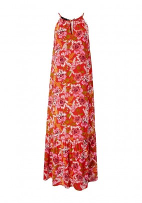 Maxi dress, red-multicolour