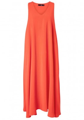 Maxi dress, fire red