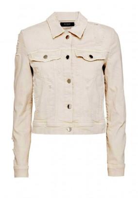 Short denim jacket, light rose