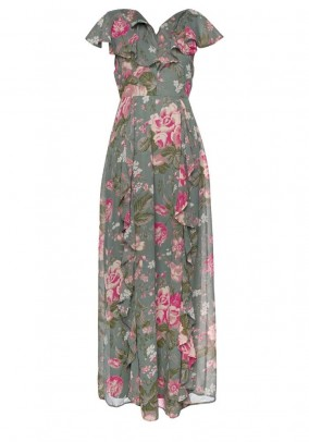Maxi dress, khaki-multicolour