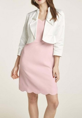 Short jacket with flounces, offwhite
