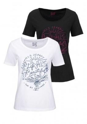 Set of two shirts, black-white